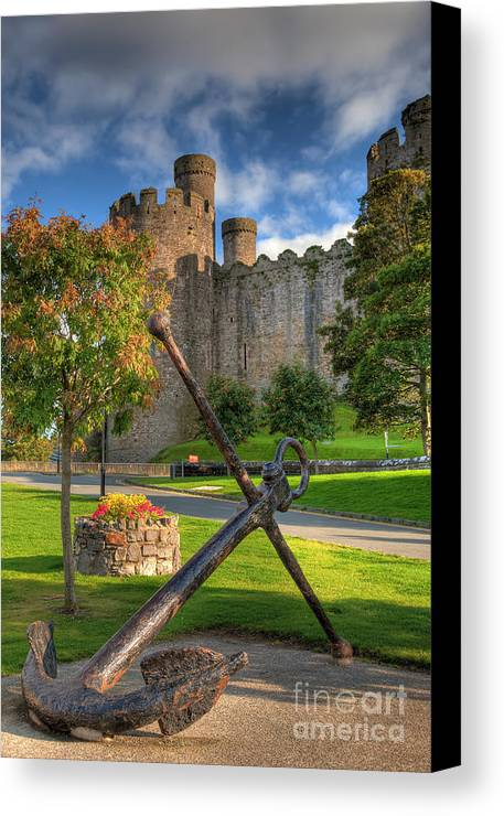 Ancient Canvas Print featuring the photograph The Anchor by Adrian Evans