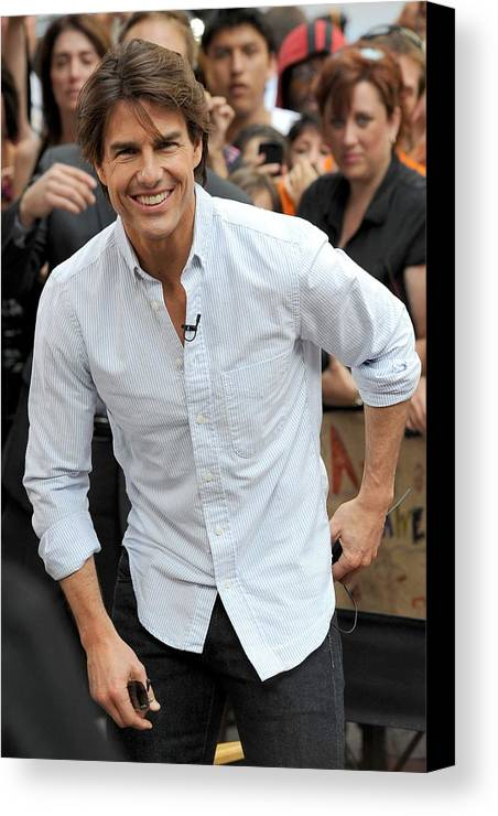 Tom Cruise Canvas Print featuring the photograph Tom Cruise At Talk Show Appearance by Everett