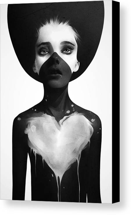Hold Canvas Print featuring the mixed media Hold On by Ruben Ireland