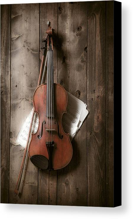 Bow Canvas Print featuring the photograph Violin by Garry Gay