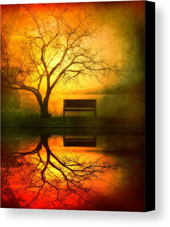 Bench Canvas Print featuring the photograph And I Will Wait For You Until The Sun Goes Down by Tara Turner