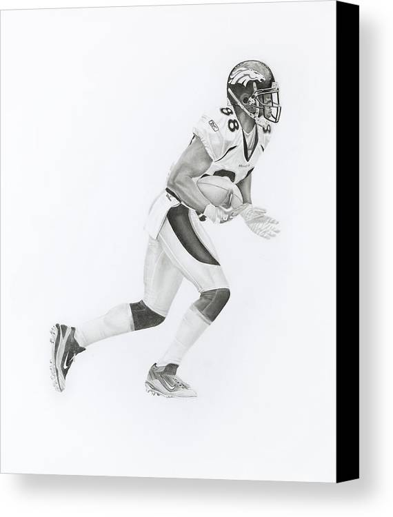 Dt Canvas Print featuring the drawing D Thomas 88 by Don Medina