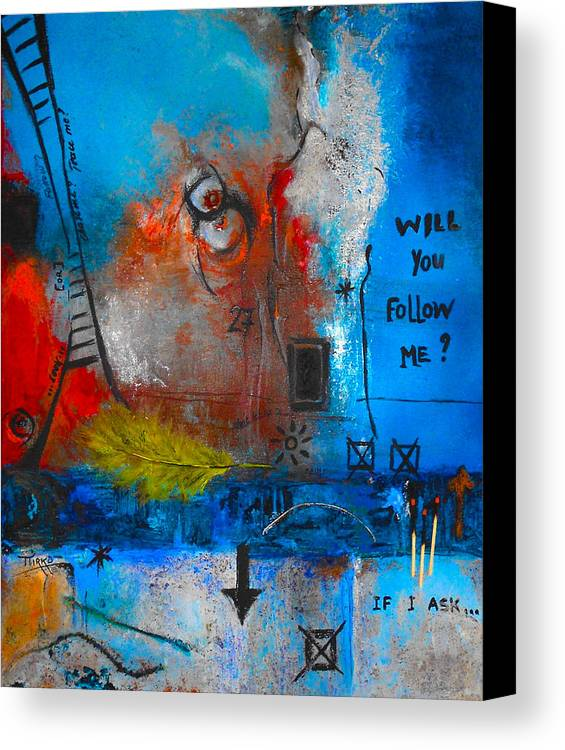 Abstract Canvas Print featuring the painting If I Ask by Mirko Gallery