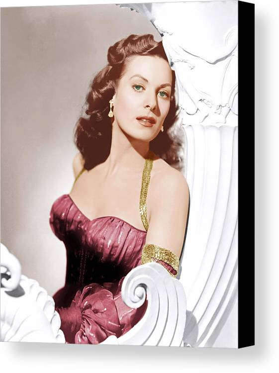 1950s Portraits Canvas Print featuring the photograph Flame Of Araby, Maureen Ohara, 1951 by Everett