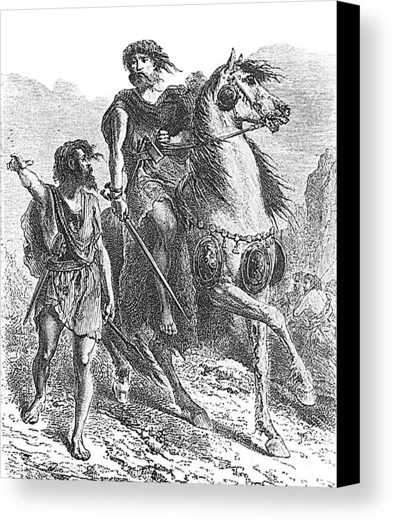 Prehistory Canvas Print featuring the photograph Bronze Age Warrior by Photo Researchers