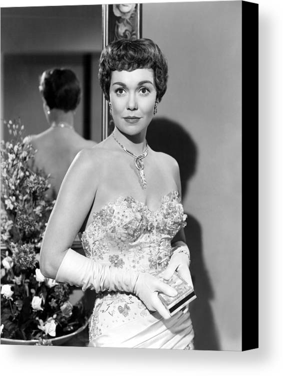 1940s Portraits Canvas Print featuring the photograph Lets Do It Again, Jane Wyman, 1953 by Everett