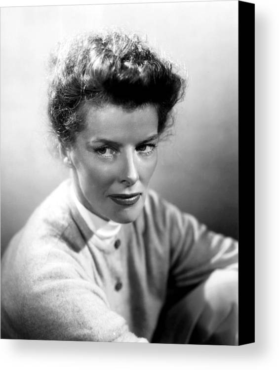1950s Portraits Canvas Print featuring the photograph Summertime, Katharine Hepburn, 1955 by Everett