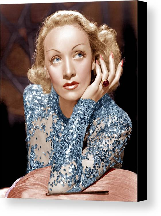 1930s Movies Canvas Print featuring the photograph Angel, Marlene Dietrich, 1937 by Everett