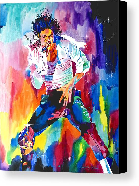 Michael Jackson Canvas Print featuring the painting Michael Jackson Wind by David Lloyd Glover