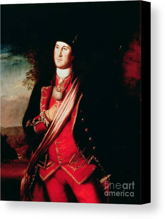 Portrait Canvas Print featuring the painting Portrait Of George Washington by Charles Willson Peale