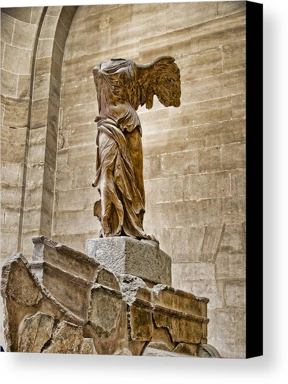 France Canvas Print featuring the photograph Winged Victory by Jon Berghoff