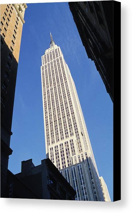 Empire State Building Canvas Prints Canvas Print featuring the photograph Empire State Building by Jon Neidert