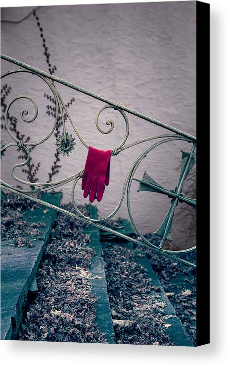 Glove Canvas Print featuring the photograph Red Glove by Joana Kruse