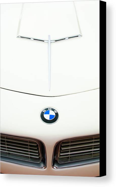 1958 Bmw 507 Roadster Canvas Print featuring the photograph 1958 Bmw 507 Roadster Hood Emblem by Jill Reger