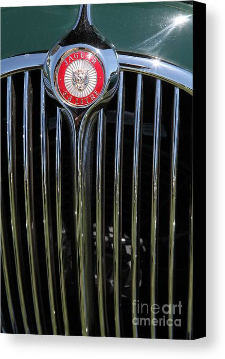 Transportation Canvas Print featuring the photograph 1962 Jaguar Mark II 5d23329 by Wingsdomain Art and Photography
