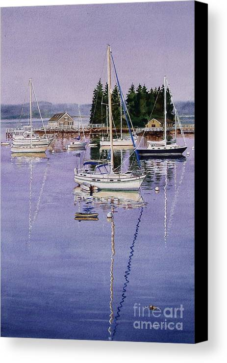 Water Canvas Print featuring the painting Boothbay Harbor by Karol Wyckoff
