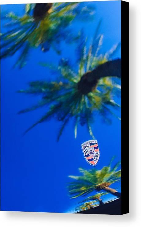 Porsche Emblem Canvas Print featuring the photograph Porsche Emblem by Jill Reger