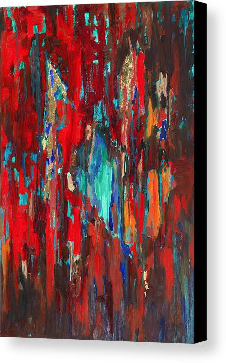 Abstract Art Canvas Print featuring the painting A New Beginning by Billie Colson