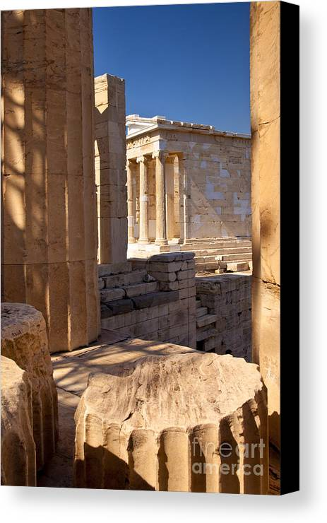 Acropolis Canvas Print featuring the photograph Acropolis Temple by Brian Jannsen
