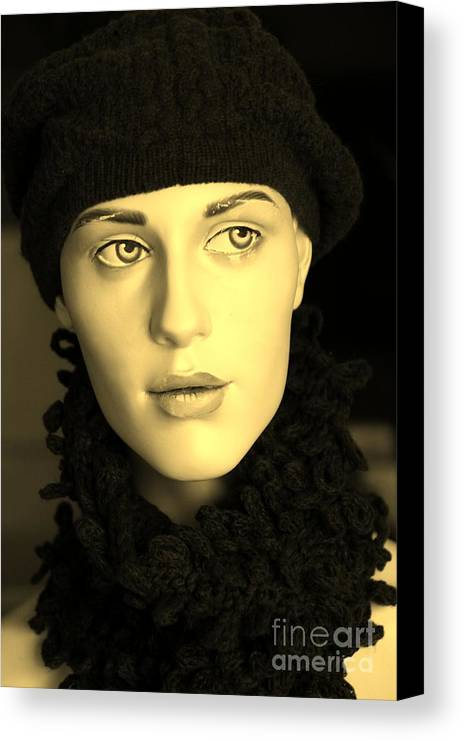 Face Canvas Print featuring the photograph Adele 3 by Sophie Vigneault