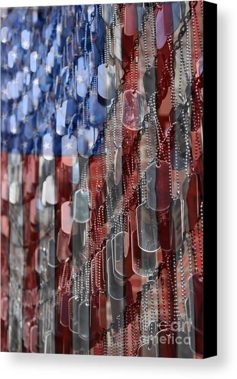 Patriotic Canvas Print featuring the photograph American Sacrifice by DJ Florek