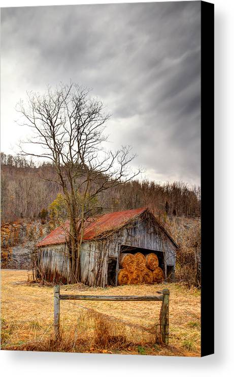 Barn Canvas Print featuring the photograph Awaiting Spring by David Jones