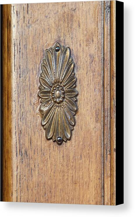 Medallion Canvas Print featuring the photograph Brass Medallion by Michael Flood