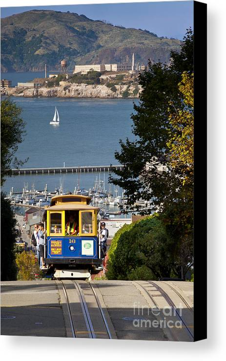 Cable Canvas Print featuring the photograph Cable Car In San Francisco by Brian Jannsen