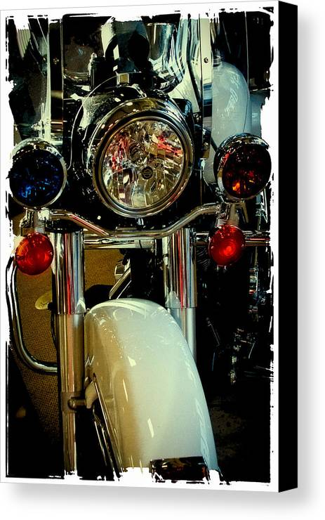 Classic Cycle Canvas Print featuring the photograph Copper Chopper by David Patterson