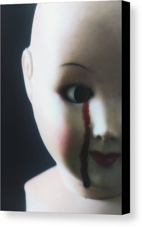 Doll Canvas Print featuring the photograph Crying Blood by Joana Kruse