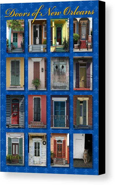 New Orleans Canvas Print featuring the photograph Doors Of New Orleans by Heidi Hermes