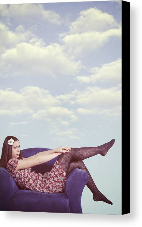 Woman Canvas Print featuring the photograph Dreaming To Fly by Joana Kruse