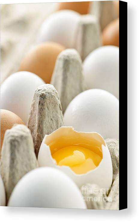 Eggs Canvas Print featuring the photograph Eggs In Box by Elena Elisseeva