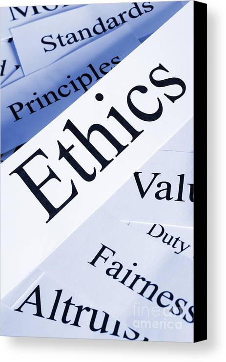 Concept Canvas Print featuring the photograph Ethics Concept by Colin and Linda McKie