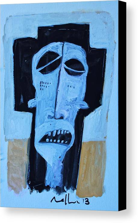 Face Canvas Print featuring the painting Exanimus No. 9 by Mark M Mellon