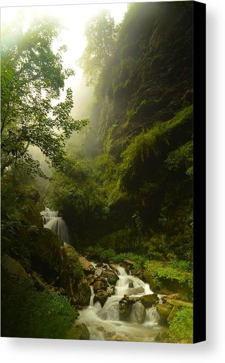 Landscape Canvas Print featuring the photograph Heaven Calling by Aaron S Bedell