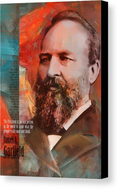 James A Garfield Canvas Print featuring the painting James A. Garfield by Corporate Art Task Force