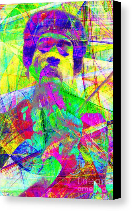 Jimi Canvas Print featuring the photograph Jimi Hendrix 20130613 by Wingsdomain Art and Photography