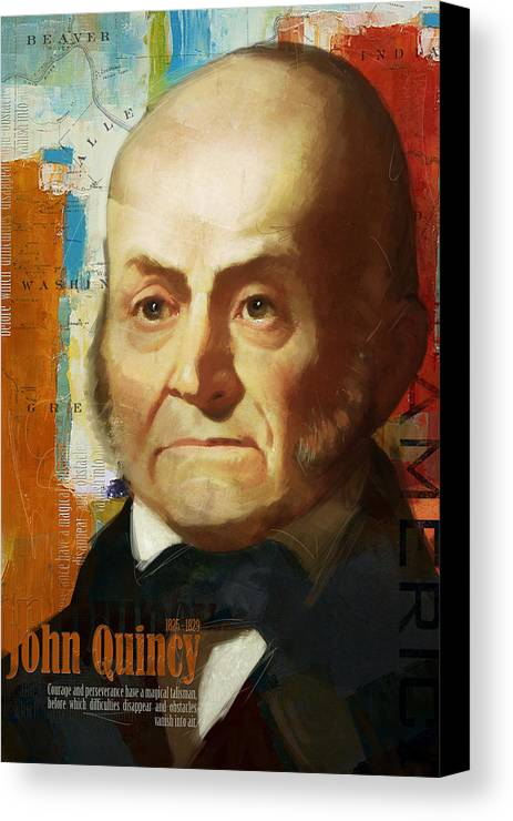 John Quincy Canvas Print featuring the painting John Quincy Adams by Corporate Art Task Force