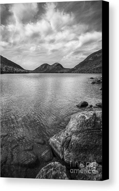Acadia Canvas Print featuring the photograph Jordan Pond Acadia National Park Maine. by Diane Diederich