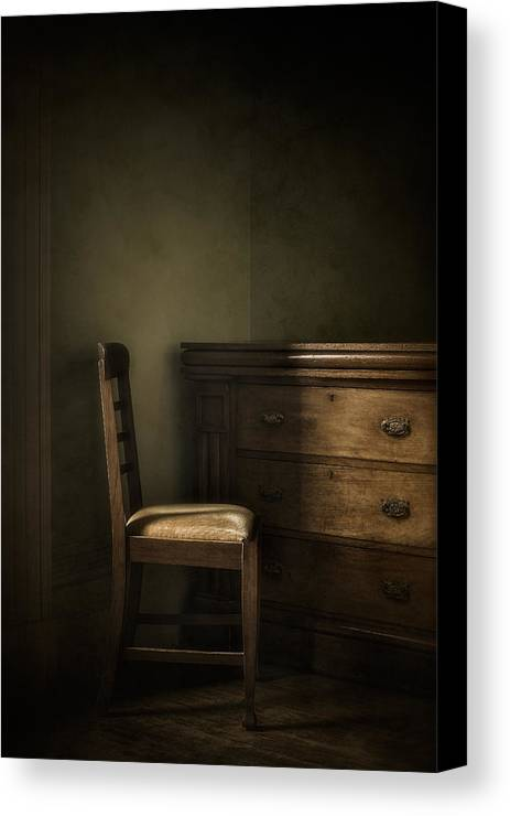 Chair Canvas Print featuring the photograph Memories by Amy Weiss