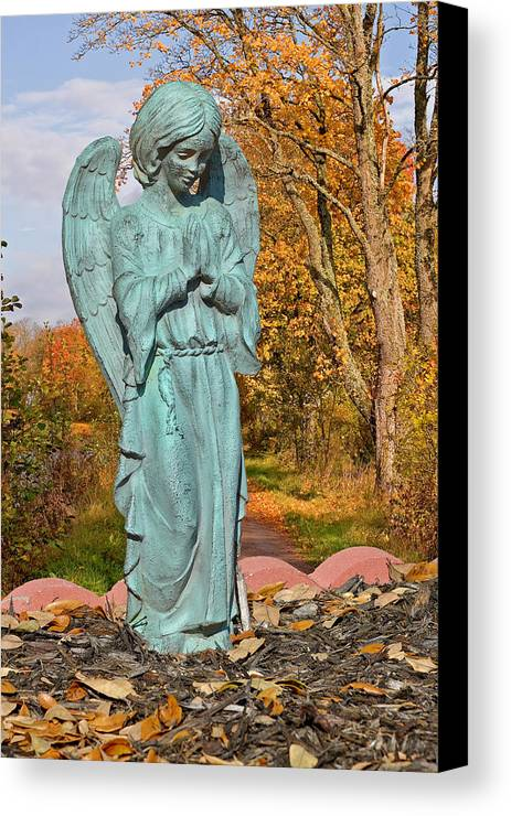 Grave Canvas Print featuring the photograph Messenger Between Two Worlds by Christine Till