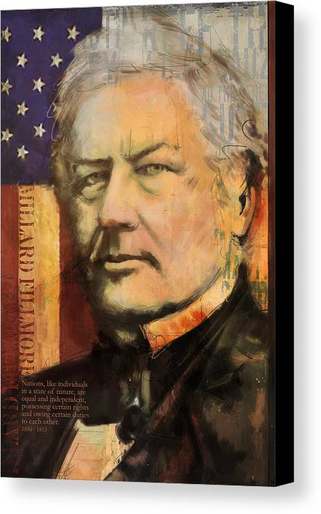 Millard Fillmore Canvas Print featuring the painting Millard Fillmore by Corporate Art Task Force