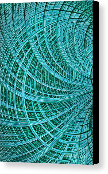 Mesh Canvas Print featuring the digital art Network by John Edwards