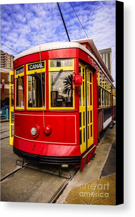 America Canvas Print featuring the photograph New Orleans Streetcar by Paul Velgos