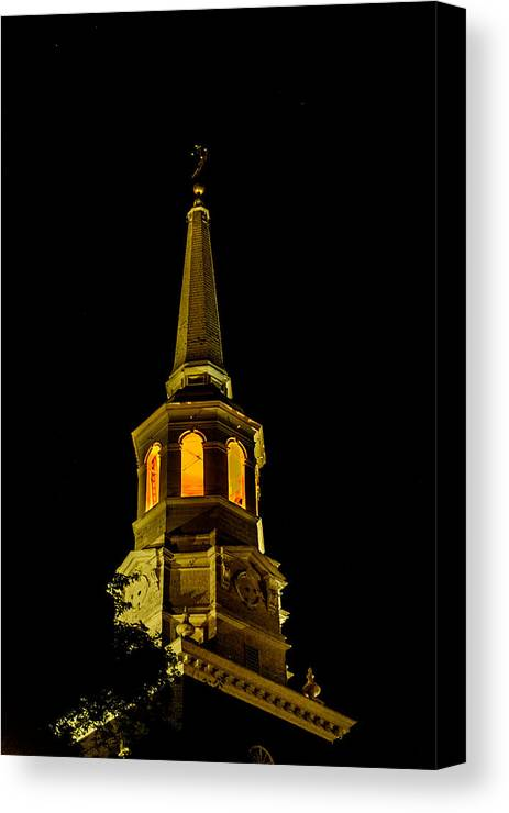 First Friday Canvas Print featuring the photograph Old Christ Church by Louis Dallara