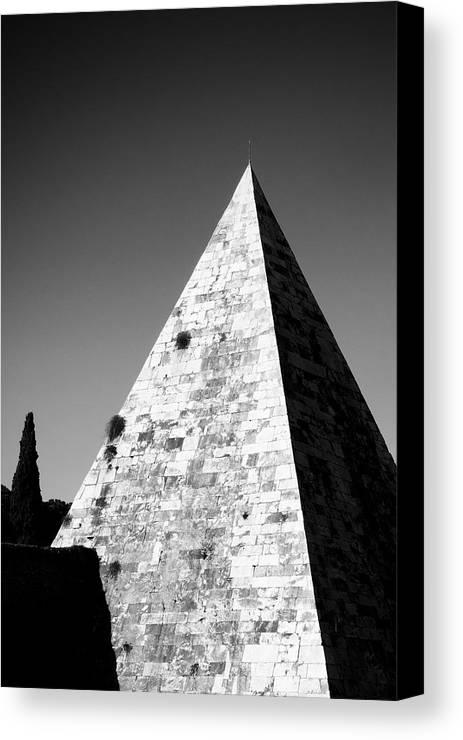 Pyramid Canvas Print featuring the photograph Pyramid Of Cestius by Fabrizio Troiani