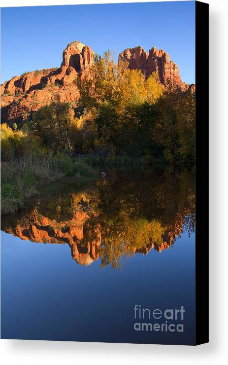 Sedona Canvas Print featuring the photograph Red Rock Reflections by Mike Dawson