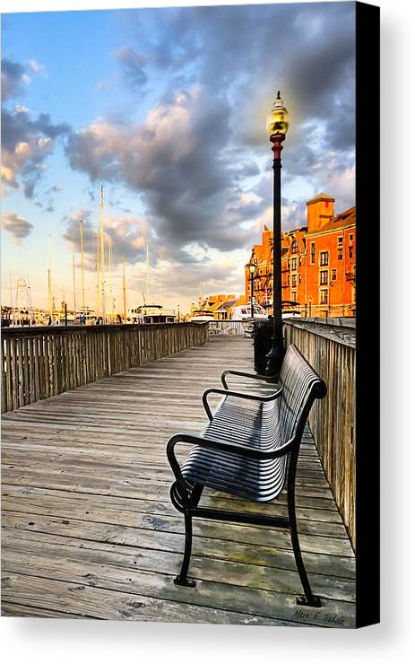 Boston Canvas Print featuring the photograph Relax And Watch The Sunset In Boston by Mark E Tisdale