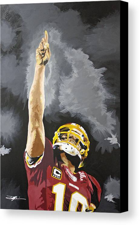 Rg Iii Canvas Print featuring the drawing Rg IIi by Don Medina